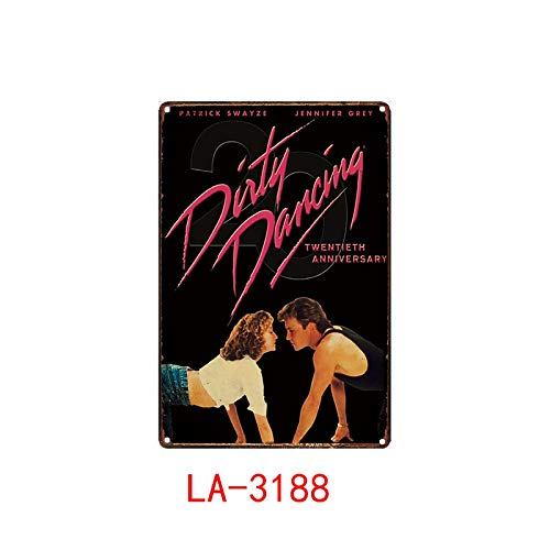 Dirty Dancing Posters Metal Poster Plaque Metal Vintage Classic Movie Metal Tin Sign Wall Decor For Bar Iron Painting 20x30cm White