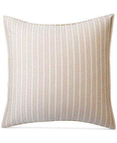 For Sale! Ralph Lauren Graydon Bold Stripe Cotton Euro Shams (Set of 2), Dune Linen