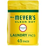 Mrs. Meyer's Clean Day Laundry Detergent Pacs, Biodegradable Formula, Ready to Use Pods, Honeysuckle Scent, 45 Count