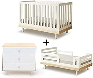 Oeuf Classic Collection Complete Nursery in Birch with 3 Drawer Dresser