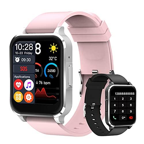 Smartwatch Pulsera Inteligente, Reloj Inteligente De 1.54 Pulgadas, Toque Completo A Color A Prueba De Agua Ip68, Reloj Para Contestar...