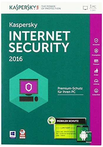 Kaspersky Internet Security 2016 - 1 PC / 1 Jahr + Android Security (Frustfreie Verpackung)