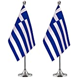 Greek Desk Flag Small Mini Gre...
