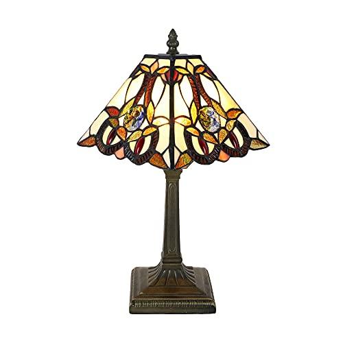 Tokira Lámparas de mesa pequeñas estilo Tiffany para sala de estar, lámpara...