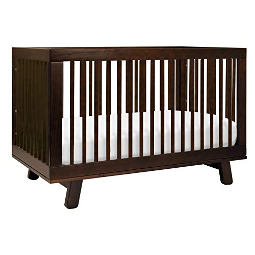 Babyletto Hudson 3-in-1 Convertible Crib with Toddler Bed Conversion Kit in Espresso, Greenguard Gold Certified