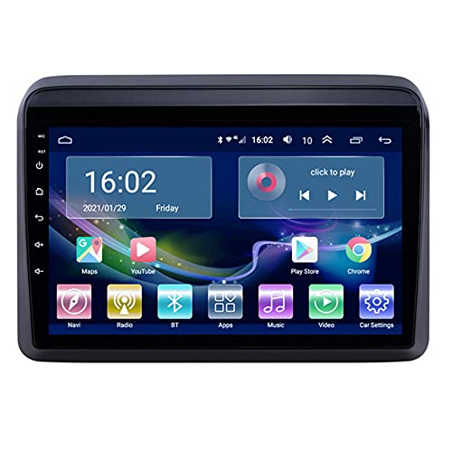 Estéreo Del Coche Radio De Navegación Por Satélite FM AM Reproductor Multimedia Android 10.0 Autoradio Pantalla Táctil Navegación GPS Para Suzuki ERTIGA 2018-2019 Soporte Bluetooth(Color:WIFI 4G+64G)