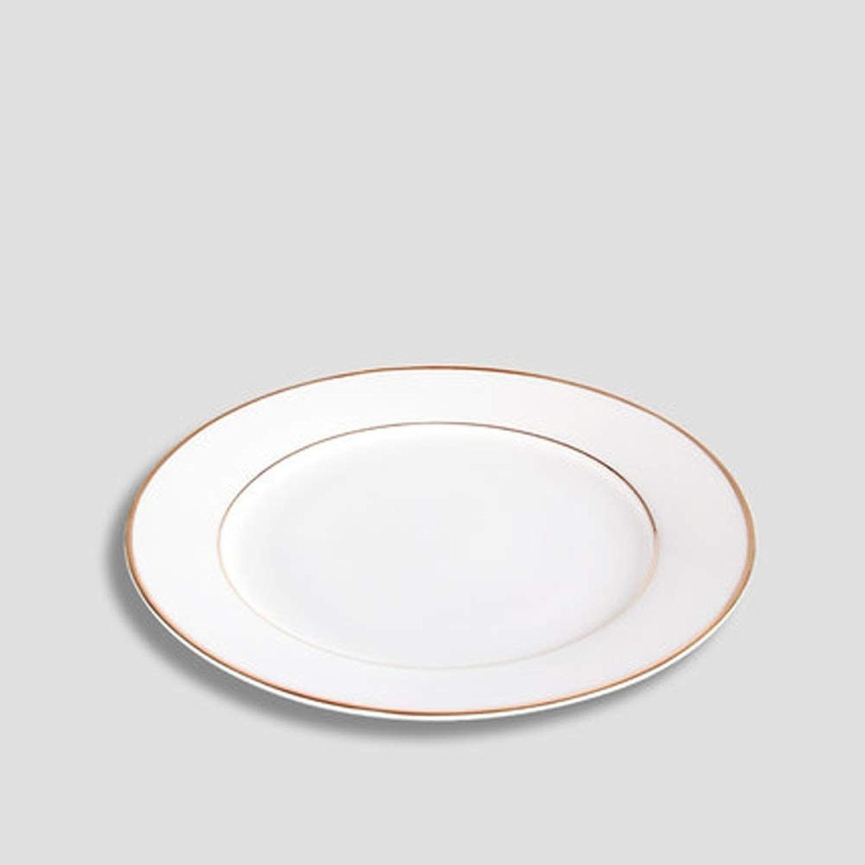 Assiette Vaisselle Ronde Steak Assiette Cuisine Pain Plat En Céramique Plat Assiette Plate Assiette En Pate D (Couleur   A)