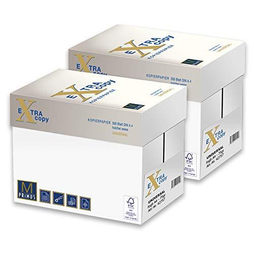 Primus Extra White Copy 75gr Carta A4 per fotocopiatrici e stampanti 75gr mq, Formato A4, confezione da 10 Risme
