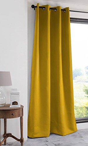 Lovely Casa - Tenda oscurante, 140 x 280 cm, colore: Giallo
