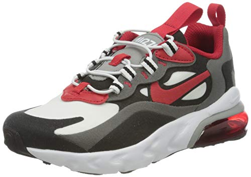 Nike Jungen AIR MAX 270 RT (PS) Laufschuh, Iron Grey Univ Red Black White, 32 EU