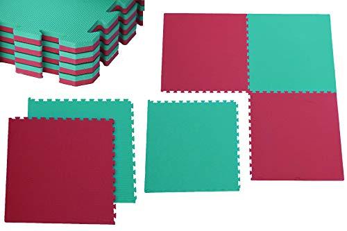 Unbekannt Sportmatte Steckmatte Judomatte (0560060) rot-grün 1x1x0,02m