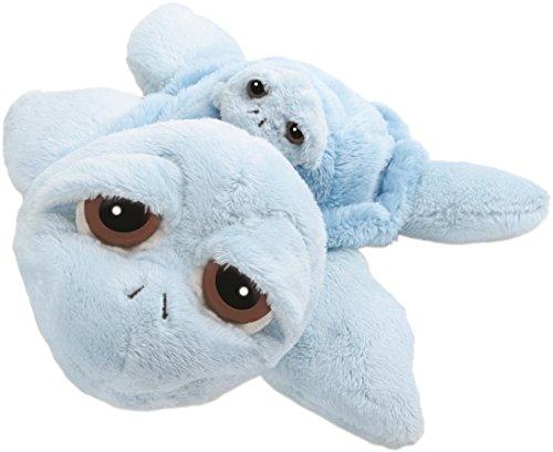 Suki 10026 Stofftier Schildkröte Reef Mama mit Baby, 30 cm, blau