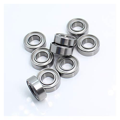 Liuxiaobo-bearing MR126ZZ Handle Bearings 6x12x4 mm Miniature Bearing for Strong Drill Brush Handpiece MR126 ZZ Nail Ball Bearing Deep Groove (Inner Diameter : MR126ZZ 6x12x4mm)