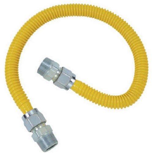 BrassCraft CSSC14-48 P 3/4-Inch MIP x 1/2-Inch MIP x 48-Inch ProCoat Gas Appliance Connector, 5/8-Inch, OD 106,000 BTU