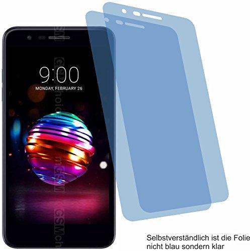 4ProTec I 2X Crystal Clear klar Schutzfolie für LG K10 2018 Bildschirmschutzfolie Displayschutzfolie Schutzhülle Bildschirmschutz Bildschirmfolie Folie