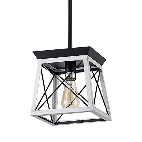 XIPUDA Farmhouse Pendant Light Fixture, Kitchen Island Lighting Ceiling Mount Chandelier, Hanging Light Fixture for Living Room, Bedroom
