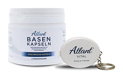 Atlant Vital Basenpulver Basentabletten 3 Monatspackung 270 Stk. + Säure Basen Check (2 PH Teststreifen)