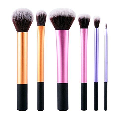Pinceau Correcteur Maquillage Set de 6 fondatinto Eyeliner Blush Contour polissage professionnel accessoire beauté