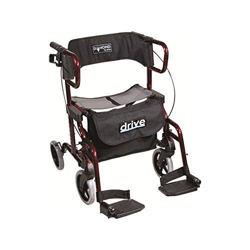 Rollator Drive Diamond Deluxe Klappbarer Rollstuhl
