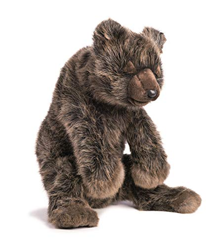 Hansa Sleeping Bear Plush Brown 190374