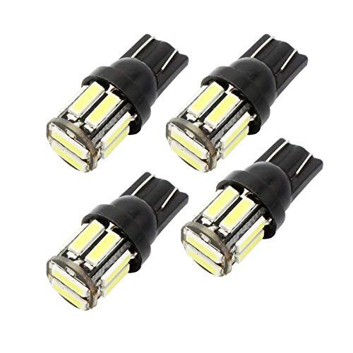 GSDGBDFE 4pcs W5W 10-7020 SMD Car T10 LED 194 168 Reemplazo de cuña Lámpara de Panel de Instrumentos inversa Bulbos Azul Bulbos Ajuste para Luces de liquidación (Emitting Color : Blue)