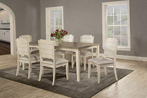 Hillsdale Furniture 13 Piece Dining Set with Clarion Rectangle Side Chairs,  Sea White
