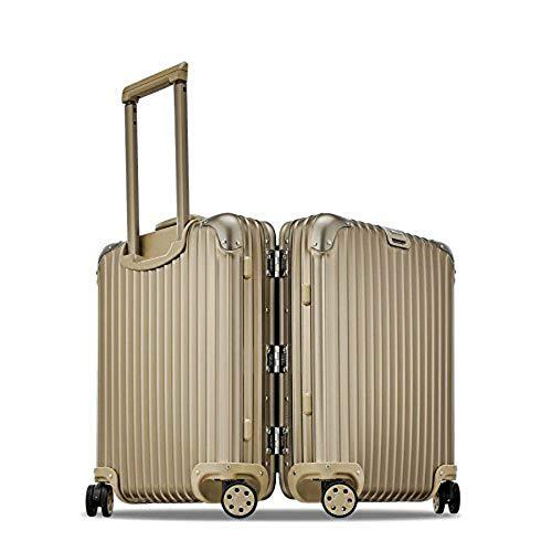 Rimowa Topas Titanium Carry on Luggage IATA 21' Inch Multiwheel 32L Suitcase - Champagne