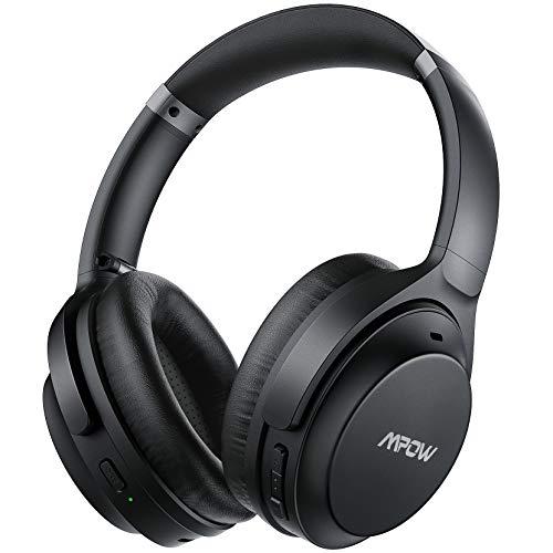 Mpow H12 IPO Auriculares Diadema Cancelacion Ruido con Micrófono CVC 8.0, Auriculares Cancelacion de Ruido Activa, 40hrs de Reproducir, Auriculares Bluetooth 5.0 con Tipo C para TV, PC, Móvil