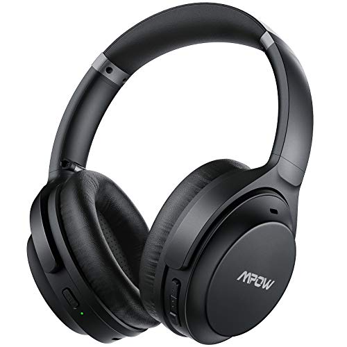 Mpow H12 IPO Cuffie Cancellazione Attiva Rumore, Batteria 40H con Type-C, Cuffie Bluetooth 5.0 Over Ear, Bassi Profondi con Microfono CVC 8.0, Auricolari in Memory Foam, Pieghevoli per PC TV