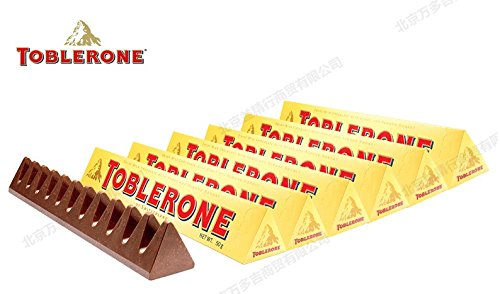 24 x Chocolade Reep Toblerone Melk Geel 50 gram