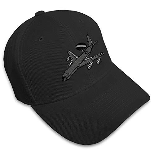 Baseball Cap AWACS E-3 Sentry Embroidery Acrylic Dad Hats for Men & Women Strap Closure Black Design Only