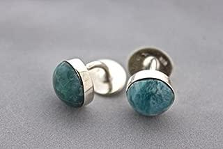 Larimar Silver Cufflinks