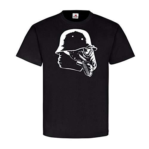 Mondsoldat Iron Cross Haunebu Flugscheibe Sky Soldat Gasmaske - T Shirt #4633, Größe:XL, Farbe:Schwarz