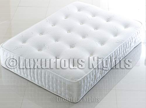 Luxurious Nights SILK 3000 POCKET SPRUNG MATTRESS WITH CHOICE OF SINGLE | DOUBLE | KING-SIZE | SUPER KINK-SIZE (3000 pocket, 5FT KING-SIZE)