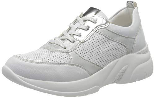 Remonte D4100, Zapatillas Mujer, Blanco (Weiss/Argento/Ice 80), 39 EU