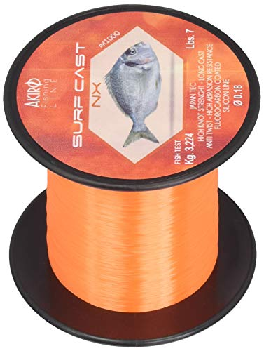 Akiro Surf Cast Nx, Filo da Pesca Unisex – Adulto, Arancione, 0.24 mm