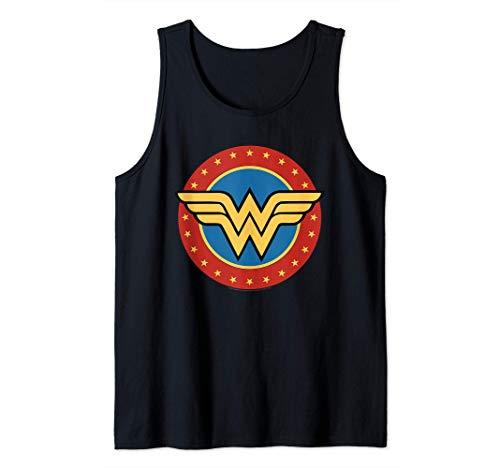 DC Comics Wonder Woman Circle Logo Camiseta sin Mangas