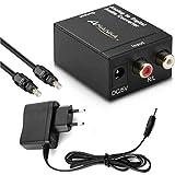 AMANKA Analog zu Digital Audio Konverter - Analog auf Digital Wandler - Klinke RCA Stecker zu 2X...