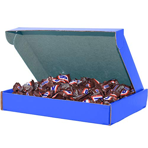 Milk Chocolate Candy (4 lbs) Snickers Gifts for Office by SupplyTiger, 13x10x2 Blue Box