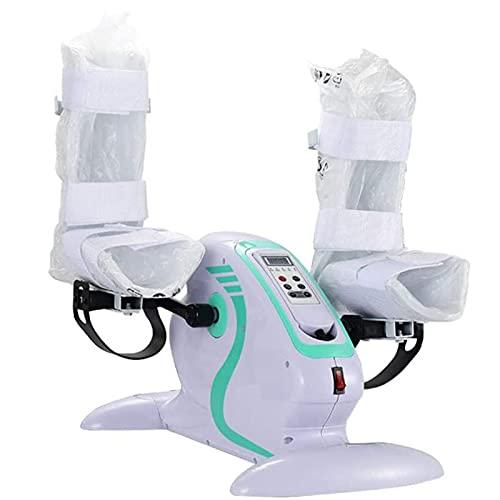YTBLF Bicicleta Estática Eléctrica con Protector De Piernas, Ejercitador De Pedales, Mini Entrenador De Ciclismo para Ejercicios De Brazos/Piernas para Ancianos, Discapacitados Y Personas Mayores