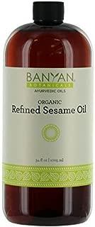 Banyan Botanicals Refined Sesame Oil - USDA Organic, 34 oz - Unscented Traditional Ayurvedic Oil for Massage