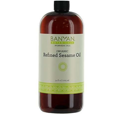 Discover Bargain Banyan Botanicals Refined Sesame Oil – USDA Organic, 34 oz – Unscented Traditional Ayurvedic Oil for Massage