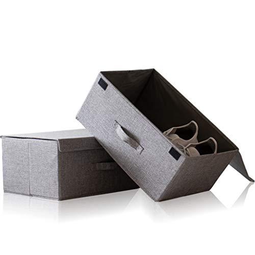Hausfelder ORDNUNGSLIEBE Aufbewahrungsbox groß mit Deckel - Box Set 44x30cm zur Aufbewahrung, Stoff Ordnungsbox einsetzbar als Aufbewahrungskiste (2 Stück mit Klappdeckel)