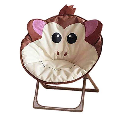 JYSPT Kinder Klappstuhl Baby Stuhl Campingstuhl Schlafzimmer Stuhl für Home Outdoor Strand Camping Stuhl (Monkey)