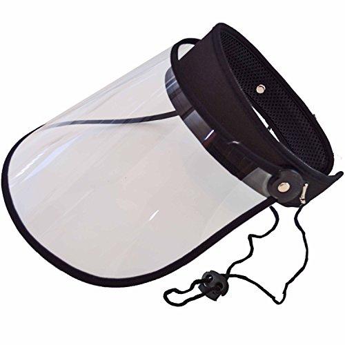 晴雨兼用 UVカット ワイド クリア サンバイザー