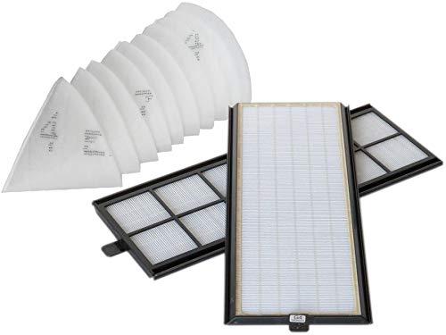 Sparhai24 Original Zehnder Filter Set passend für ComfoAir 350/550 2X G4 Filter + 10x Alternative Kegelfilter DN 125 (Zehnder Art.Nr. 400100085)
