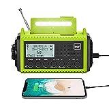 Radio Réveil Portable DAB+/DAB/FM, Solaire et Manivelle, 5000mAh Batterie...