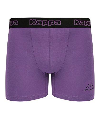 Kappa - Herren Boxershorts 2-Pack - schwarz / Neon Lila, Large