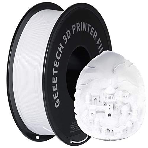 GEEETECH Filamento PETG 1.75mm 1kg Impresora 3D Filamento, Precisión Dimensional +/- 0.02 mm, PETG Blanco