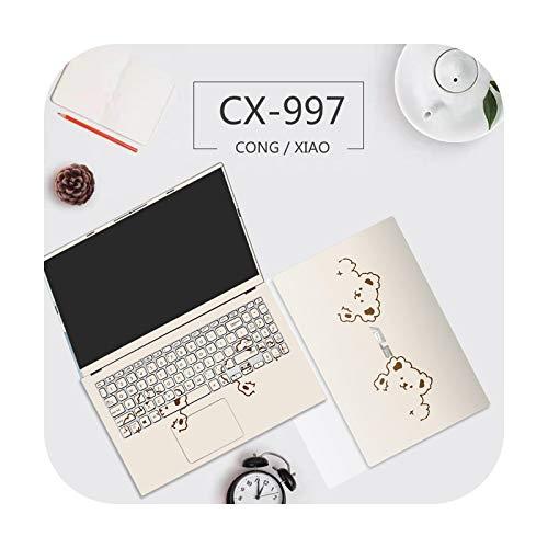 Lindo oso cubierta de ordenador portátil adhesivo PVC impermeable para Asus A456U/A550Z/A555L/X503M etc-CX-997Message model-A550Z